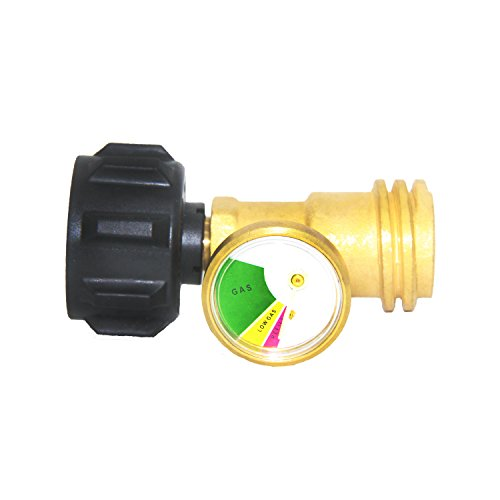 Joyway Propane Tank Gauge Brass Adapter for QCC1 Outdoor Cylinder Gas Grill BBQ by Joyway