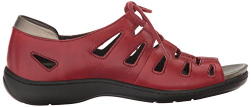 Bromly Women Aravon Red Ghillie Flat Sandal q1Fnx5w7a