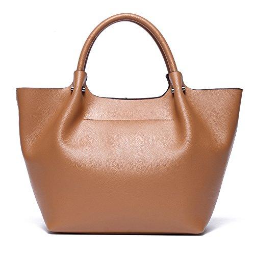Leather Tote Bag for Women,CLELO Large Purses and Handbags Hobo Bag(Tan) (Leather Purse Tan)