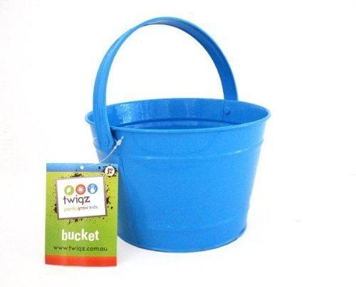 Twigz Kids Gardening Bucket - Steel - Blue by Twigz