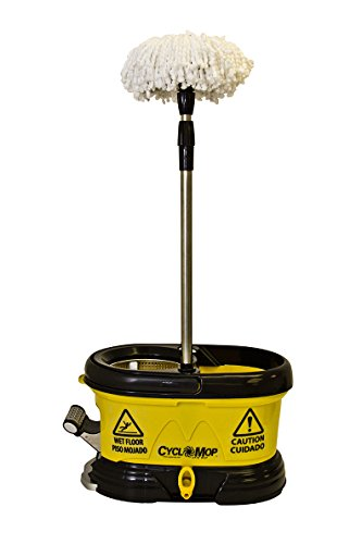 CycloMop Commercial Spinning Spin Wet & Dry Mop - Heavy Duty Design for Years of Use