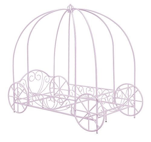 Free DHP Metal Carriage Bed, Twin, Lilac