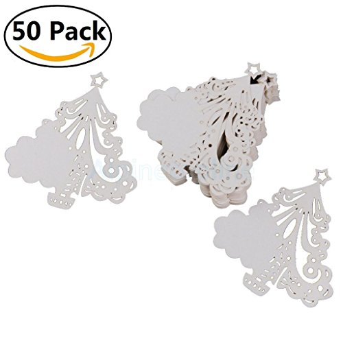 50 Pcs Butterfly Wine Glass Paper Place Cards White - 8