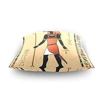 18x18 Square Throw Pillow Case Cover,Ancient Egyptian Mummy Pharaoh Sun God,Soft Cushion Pillowcase 6