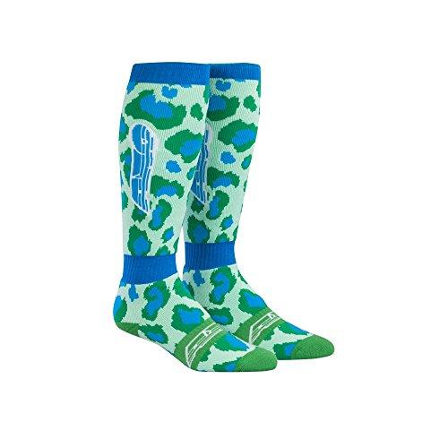 AXO Leopard MX Socks (Green/Blue, One Size) ()