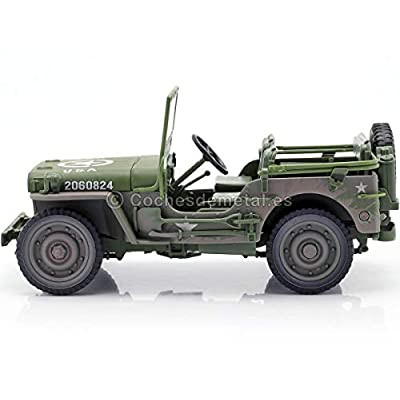Auto World AWML005B 1:18 1941 Jeep Willys-Olive Drab Dirty Version, Multi: Toys & Games