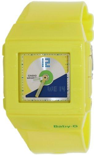 Casio Women's Baby-G BGA201-9E Yellow Resin Quartz Watch with Yellow Dial (Dial Womens Yellow)