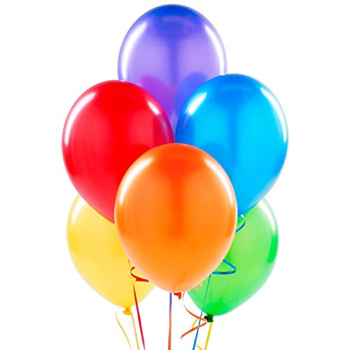 12 Inch Latex Balloons (Premium Helium Quality), Pack of 100, Assorted