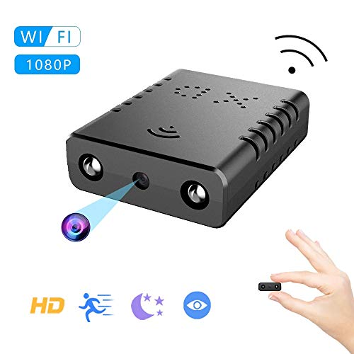 Mini Spy Camera, WiFi 1080P Wireless Nanny Hidden Camera-No Built in Battery Video Recorder with Night Vision and Motion Detection Surveillance Camera for Home, Office, Outdoor