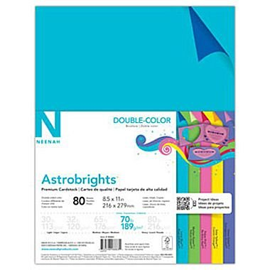 ASTROBRIGHTS Double-Color Cardstock - 5-color assortment (80 sheets)