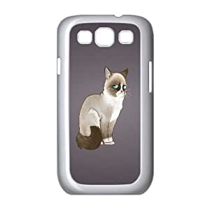 High Quality Phone Back Case Pattern Design 19Grumpy Cat,Because Cats- For Samsung Galaxy S3