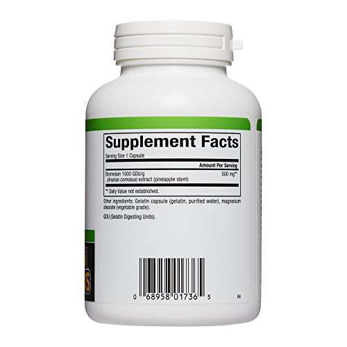 Natural Factors - Bromelain 500mg, Natural Support for Healthy Digestion, Proteolytic Enzymes from Pineapple, Non-GMO, 180 Capsules by Natural Factors (Image #1)
