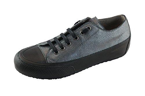 Candice Cooper Rock 02 argento (grau) Fish (geprägtes Leder) Base argento Damen Sneaker Gr. 37
