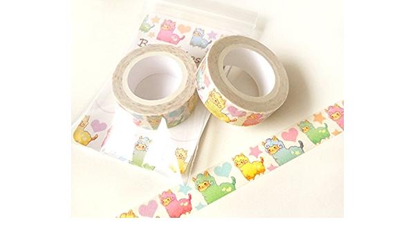 Kawaii Decorative Tape Scrapbooking Planner Sticker 7m E22 Colorful Lamp Washi Tape Cute Japan Masking Tape