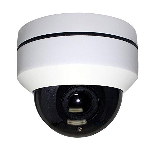 GW Security H.265 5MP Super HD 1920P IP High Speed Onvif Network PoE Dome PTZ Camera 5X Optical Zoom Waterproof Vandalproof Outdoor/Indoor