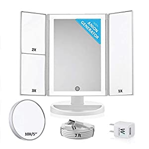 Wonder Mirror 2019 Led Lighted Trifold Makeup Mirror W