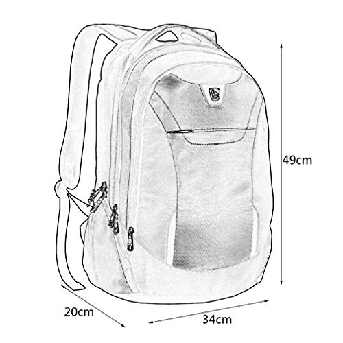 With Compartment Separate Backpack Waterproof Black shape Sunnyday Care Computer Ergonomic Unisex S Back Multifunctional Design qvRO4