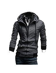 Hee Grand Men's Cotton Velvet Sweat Jacket Hoodie Coat