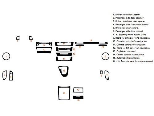 Rdash Dash Kit Decal Trim for BMW 3-Series 2006-2012 (Coupe) - Wood Grain (Burlwood Dark)