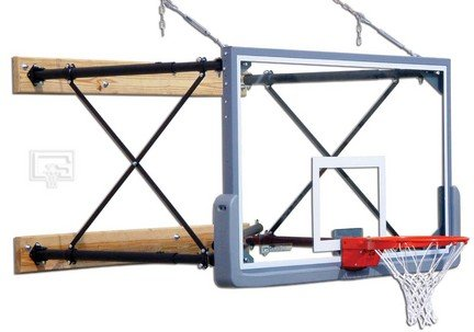 【国内正規総代理店アイテム】 four-point壁マウントバスケットボールシステムwith 42