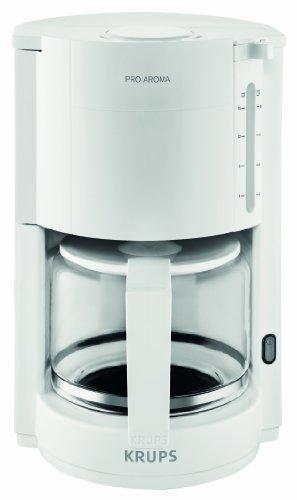 Krups-F30901-Cafetera-Independiente-Drip-coffee-maker-Color-blanco-Vidrio-Metal-Jarra-Vidrio
