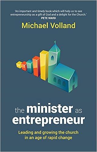 Book Minister as Entrepreneur