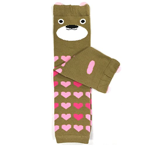 (Wrapables Animals and Fun Colorful Baby Leg Warmers, brown bear, One Size )