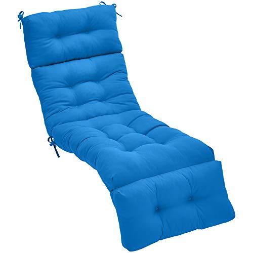 Blue Lounger - AmazonBasics Lounger Patio Cushion Patio Cushion - Blue