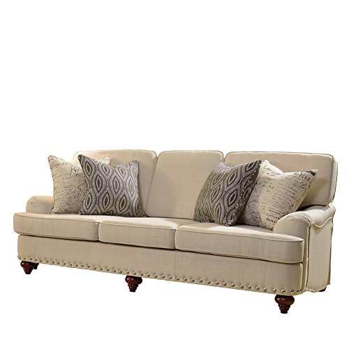 Aianna 3-seater Textured Comfortable Fabric Sofa