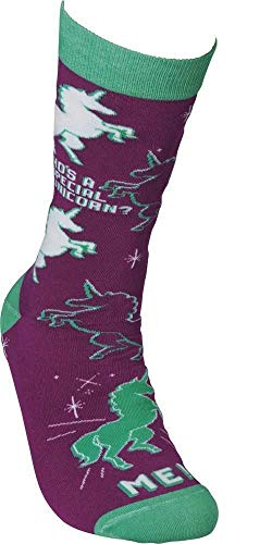 Cola Footwear (Primitives by Kathy LOL Made You Smile Silly Socks, Special Unicorn)
