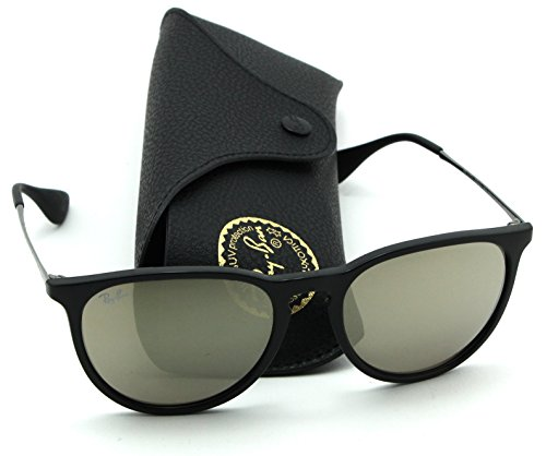Ray-Ban RB4171 601/5A Erica Black Frame / Brown Mirror Gold - Frame Lens Ban Ray Gold Aviator Black