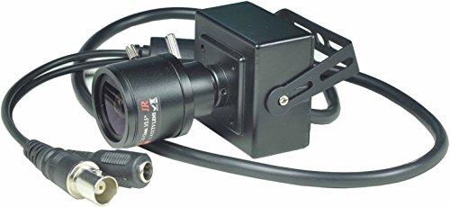 Ccd Pinhole Camera (BlueFishCam Varifocal lens 2.8-12mm Mini Case CCTV Camera SONY Color EFFIO-E CCD 700TVL With OSD Control pinhole camera Spy Camera Indoor Surveillance With Free power)
