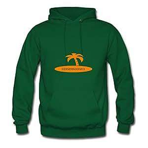Ebolam Women Honeymooners (wedding, Honeymoon) Printed Custom Funny Green Sweatshirts In X-large