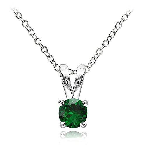 Sterling Gemstone Birthstone Solitaire Necklace product image