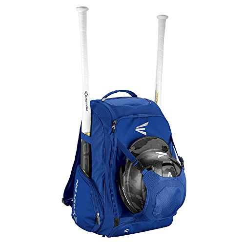 EASTON WALK-OFF IV Bat & Equipment Backpack Bag | Baseball Softball | 2019 | Royal | 2 Bat Sleeves | Vented Shoe Pocket | External Helmet Holder | 2 Side - Easton Kids Bag