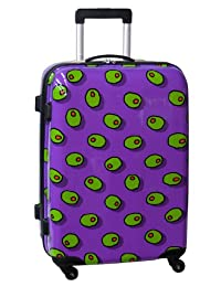Ed Heck Olives Hardside 25-Inch 4-Spinner Upright Luggage, Purple