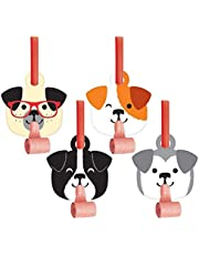 """Creative Converting 336660 Dog Party Blowers, Blowout, Multicolor, 1X2.55X5.25"""" 8Ct"""