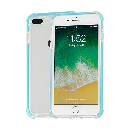 - Idea Promo Ultra Clear Case Compatible for iPhone 7 Plus   7s Plus   8 Plus, Shock-Absorption and Anti Scratch, Reinforced Conner Rubber Bumper Shockproof Protective (Blue)