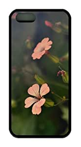 Flower Shades TPU Black thinnest iphone 5S cover for Apple iPhone 5/5S