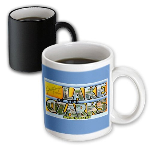 3dRose Greetings from Lake of The Ozarks Missouri Scenic Postcard Magic Transforming Mug, - Lake Ozark Outlet