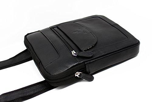 505 Genuino Negro Cuero Bolso Para Bolso Tableta Crossbody STARHIDE De Ipad Hombres Hombro De Viaje De Mujeres La RYYwa0qT
