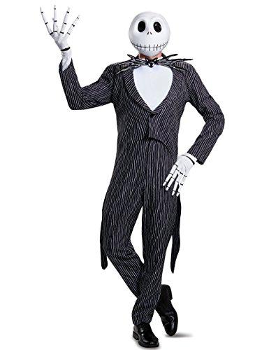 Disney Men's Plus Size Jack Skellington Prestige Adult Costume, Multi, (Jack Skeleton Costumes)