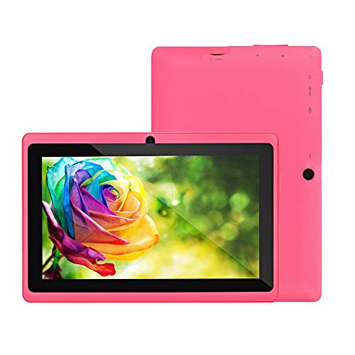 Android Tablets PC, Inkach 7 inch Laptop Computer Tablet 512MB RAM | 8GB ROM | 4-Core Processor | 2-Camera for Kids Learning WiFi Tablet (Pink) 512 Mb Ram Pc Laptops