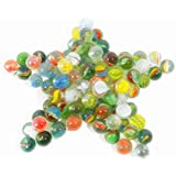 Liangfen 20 Pieces Assorted Glass Marbles 5/8 inch Marbles Bulk for Kids Marble Games/DIY and Christmas Home Decoration