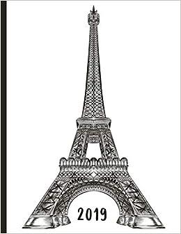 Vintage Eiffel Tower - Paris France: 2019 Schedule Planner ...