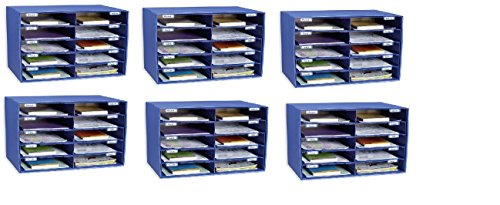 Classroom Keepers 10 Slot Sorter Mail Box and Literature Organizer (Pack of 6)