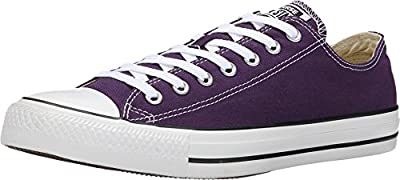 Converse Unisex Chuck Taylor All Star Low Top Eggplant Pee Sneakers - US Women's 6 B(M) / US Men's 3 D(M)