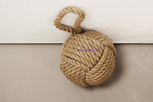 Humaira Nauticals Ship Knot Vintage Beach Decor Boat Rope Monkey fist Door stoper knobs ()