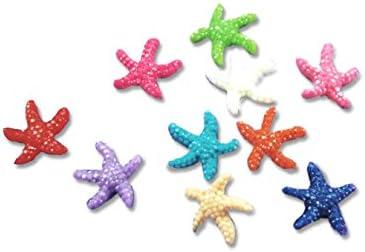 レジン素材に ヒトデモチーフ アソート 10色×各2個ずつ 20個 アクセサリーパーツ 夏