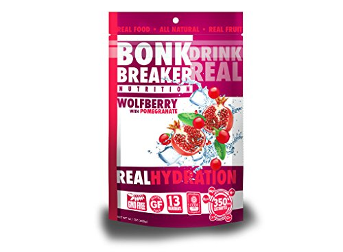 Bonk Breaker Nutrition Real Hydration Electrolyte Drink Powder, Wolfberry, 40 Count Gusset Bag